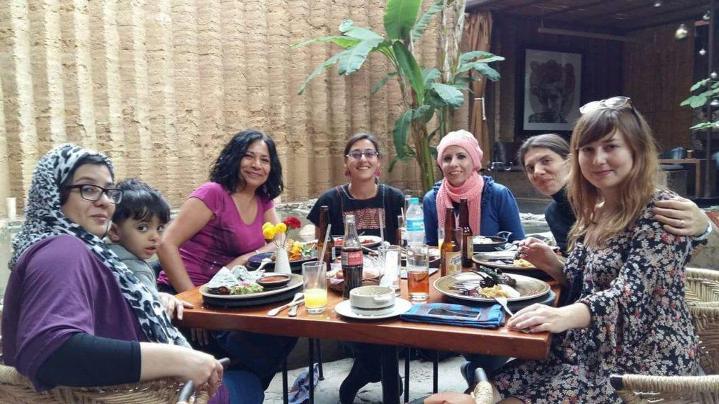 Visita de intercambio de autocuidado con las defensoras de Medio Oriente
